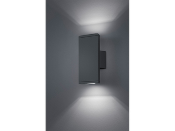 LED Außenwandleuchte COLORADO Up & Down aus Druckguss Aluminium Anthrazit IP54