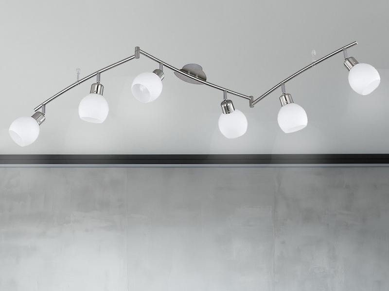 LED Wandleuchte 3 Watt Büro Spot Beleuchtung Glas Lampe drehbar silber Höhe 19cm