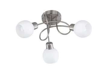 Ø 52 cm Trio LED-Deckenleuchte inkl Rostfarben 3 x 4 Watt LEDs