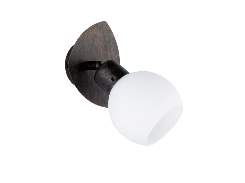 30 cm ca inkl Trio LED-Deckenstrahler 2 x 4 W LEDs Rostfarben