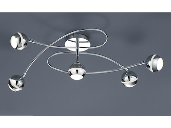 Ø 52cm inkl Nickel matt 3 x 4 Watt LEDs Trio LED-Deckenleuchte