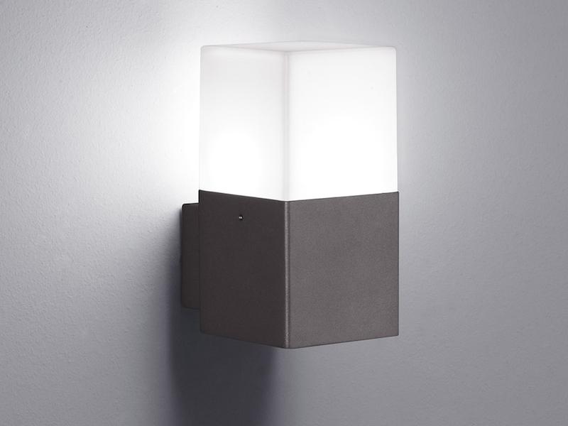 LED Außenwandlampe anthrazit mit Bewegungsmelder Außenbeleuchtung Hauswand IP44