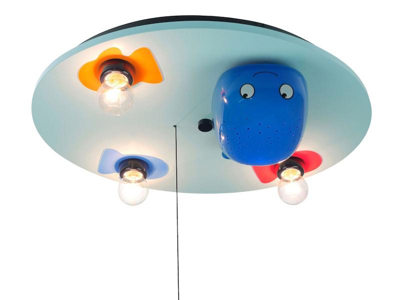 Kinder Deckenlampe mit bunten Fischen mit LED-Schlummerlicht ...