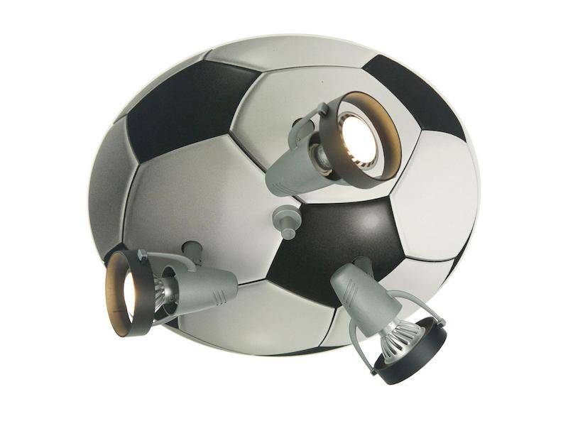Kinderzimmer Deckenleuchte Fussball 3 Schwenkbare Spots