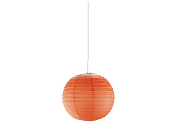 Pendelleuchte Japan-Kugel Papier Ø 40cm, Lampion PAPER orange mit dimmbare LED