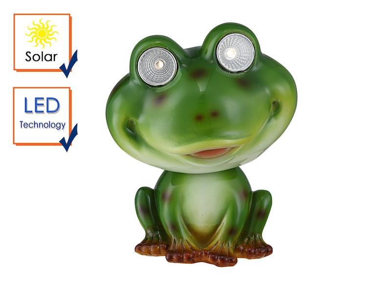 Kunstvolle Led Frosch Solarfigur Für Den Garten Meine Wunschleuchtede