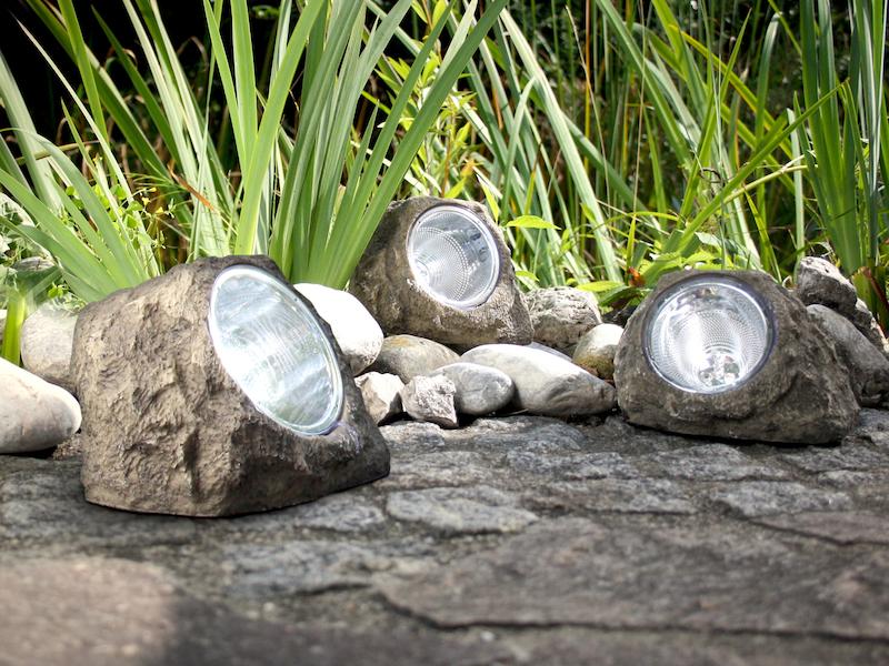 Relativ Gartendeko LED Solarleuchten in Steinoptik / meine-wunschleuchte.de ZF14