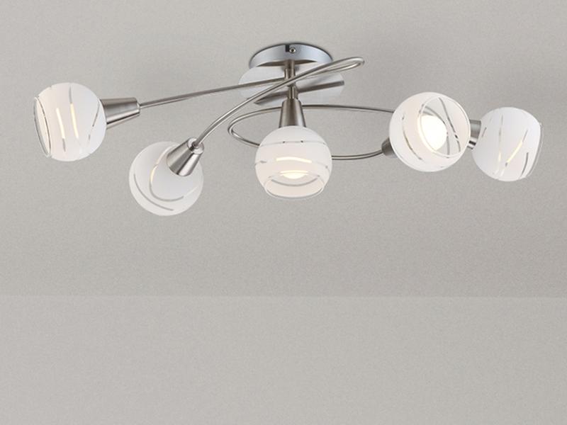 Glasschirme LED Deckenlampe Deckenstrahler ELLIOTT Deckenleuchte schwenkbar
