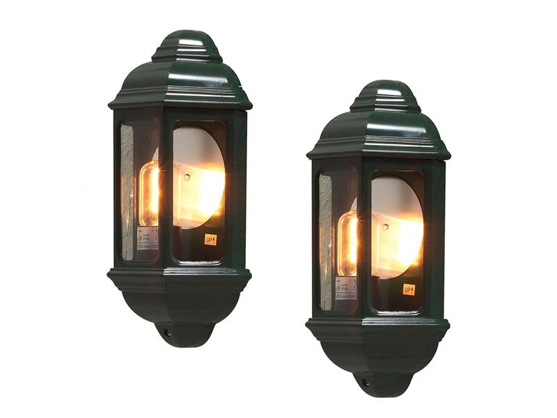 Konstsmide Außenleuchte Wandlampe CAGLIARI E27 Aluminium Glas IP43 Schwarz