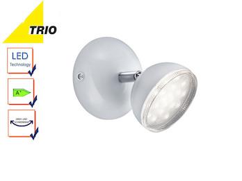Trio 3 flammiger LED Deckenstrahler BOLOU weiß Rondell Deckenleuchte Retro