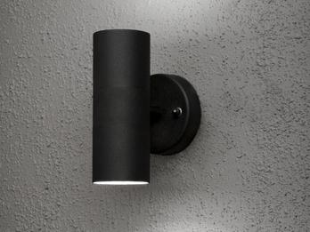 Höhe 24cm E27-Sockel 2er-Set Aluminium Wandleuchten MODENA schwarz
