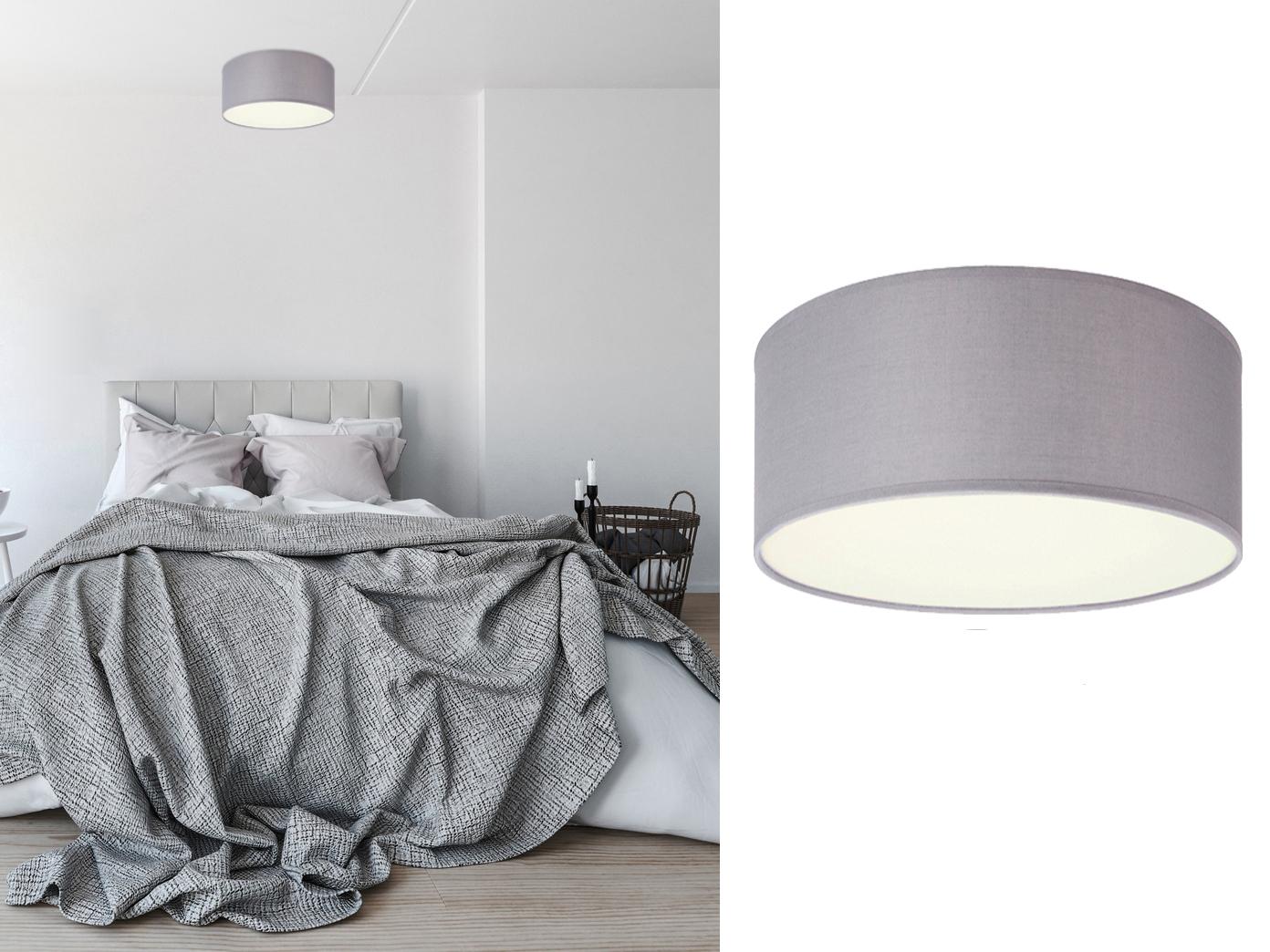 Led deckenlampe rund stoffschirm satinierte abdeckung for Deckenlampe led wohnzimmer