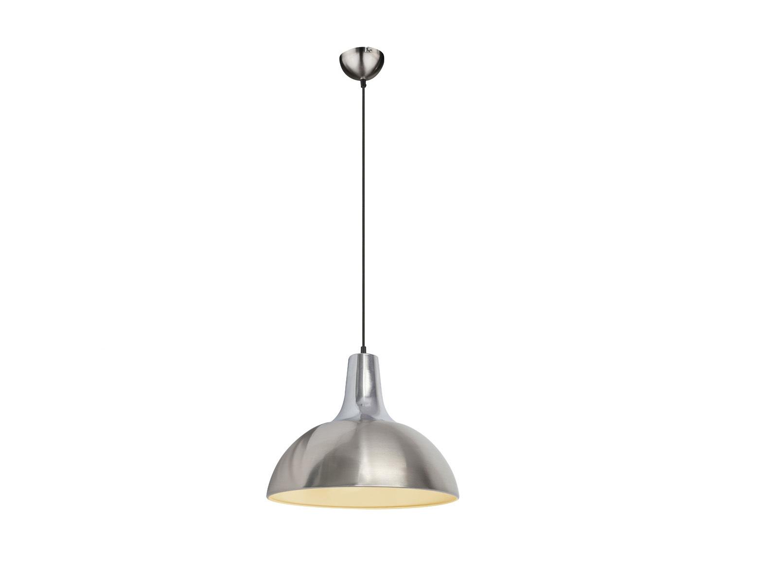 Design Retro Pendelleuchte silber Chrom Ø38cm mit LED, Hängelampe ...