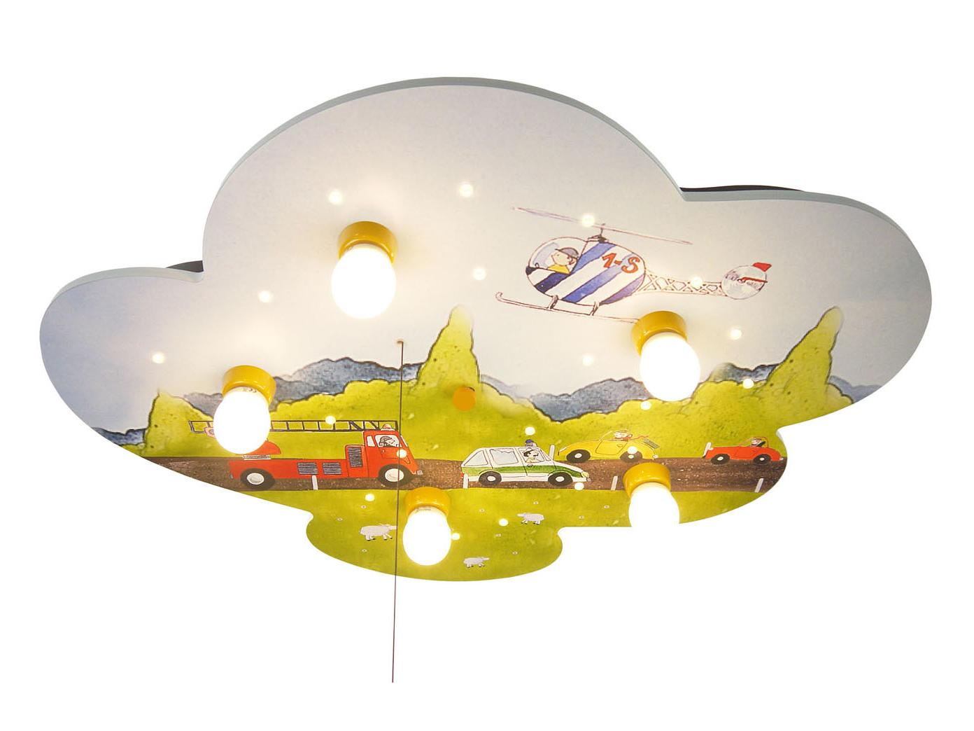Kinder Deckenlampe mit Zugschalter für LED Auto Schlummerlicht ...