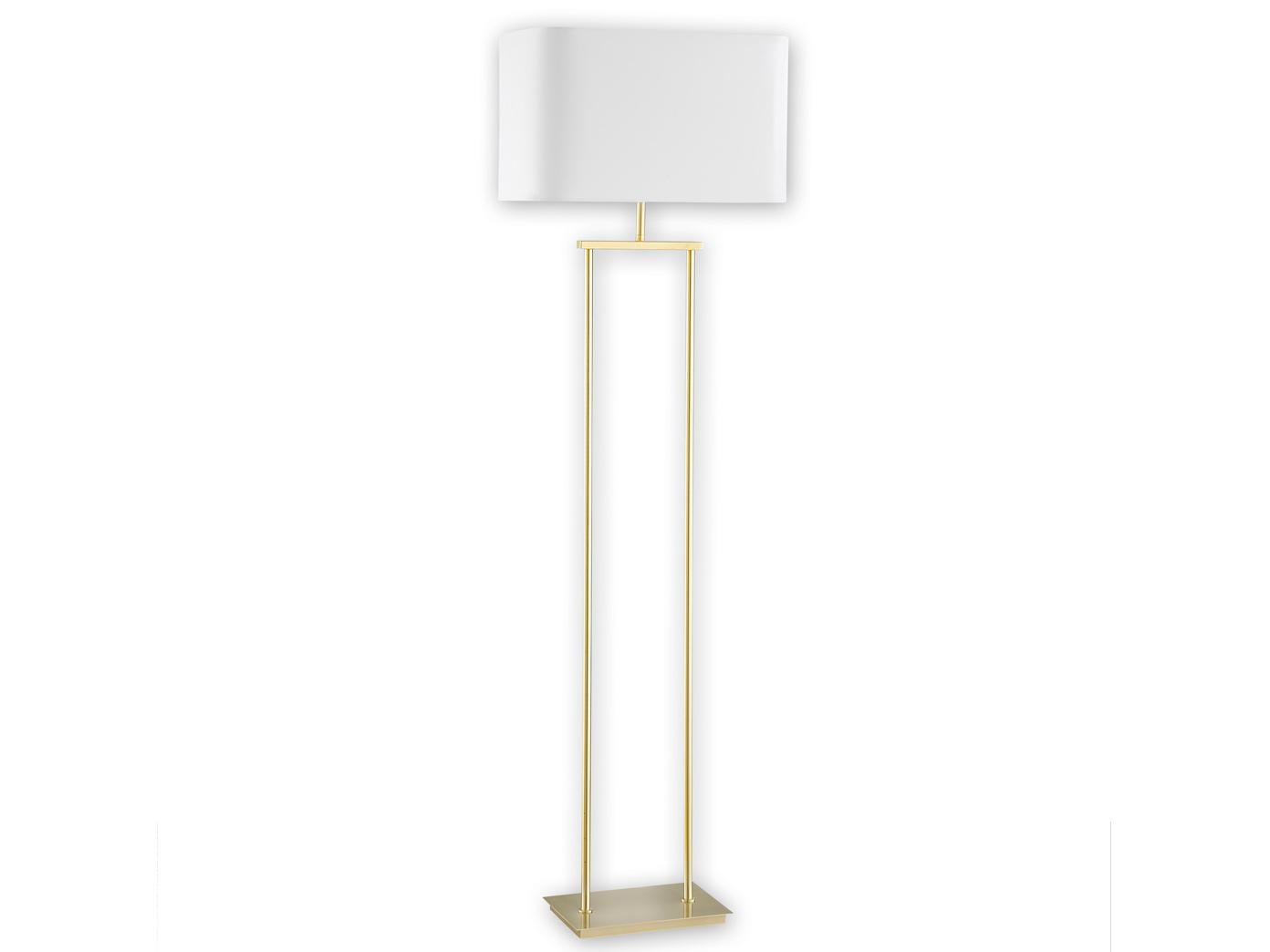 Wunderschön Stehleuchte Weiß Referenz Von Moderne-led-stehleuchte-mit-lampenschirm-eckig-weiss-h-
