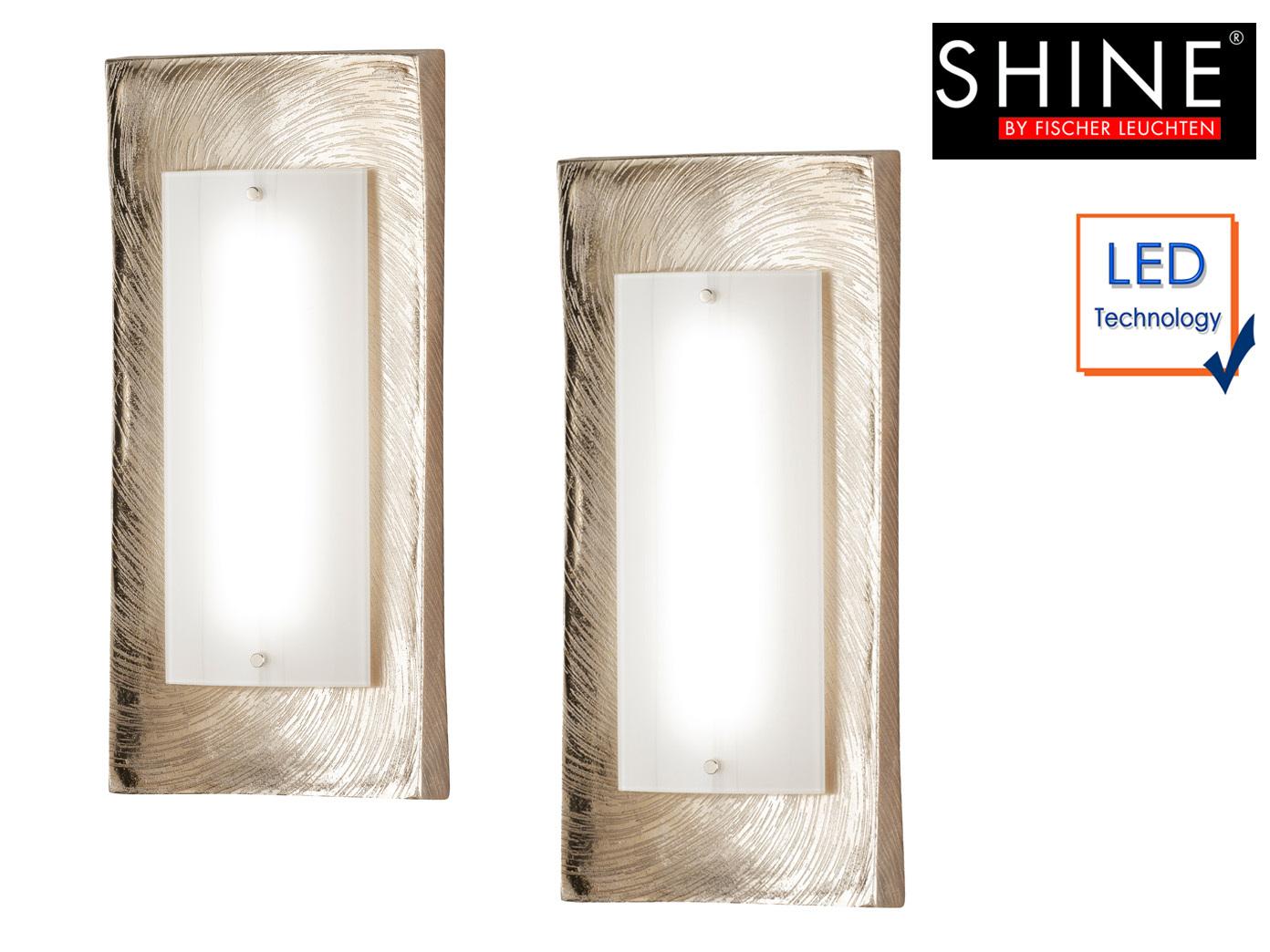 Das Bild Wird Geladen 2x Design Wandlampe Champagner Gold Hoehe 42cm LED
