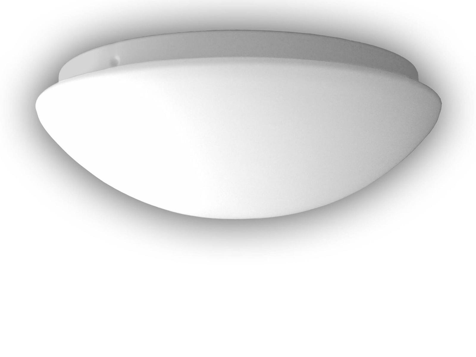 LED Glasleuchte Ø 45cm LED Deckenlampe dimmbar rund Opal Glas matt Wandlampe