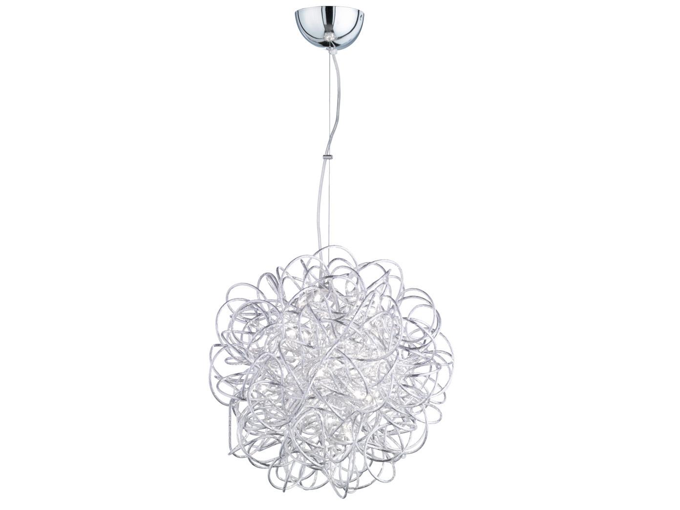 Pendelleuchte Modern led hängele in silber ø 43cm hängeleuchten esszimmer