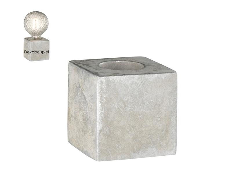 Tischleuchte im Retro Design aus Beton grau E27 Fassung Tischlampe Industrie