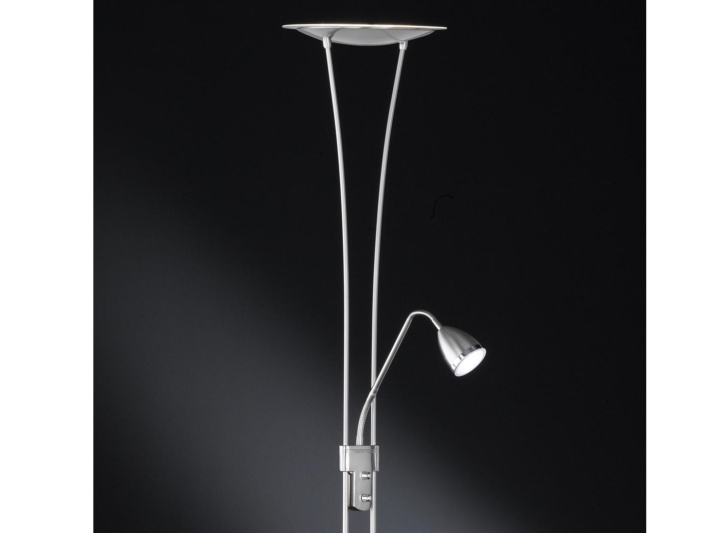 Led stehlampe atria leselicht flexibel deckenfluter stehleuchte