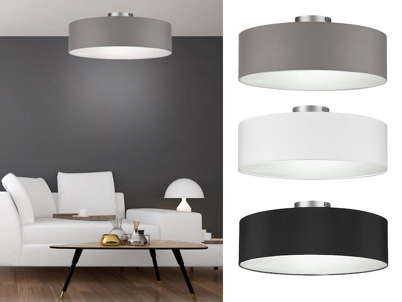 Varianten Lampenschirm Stoffschirm grau oval Retro