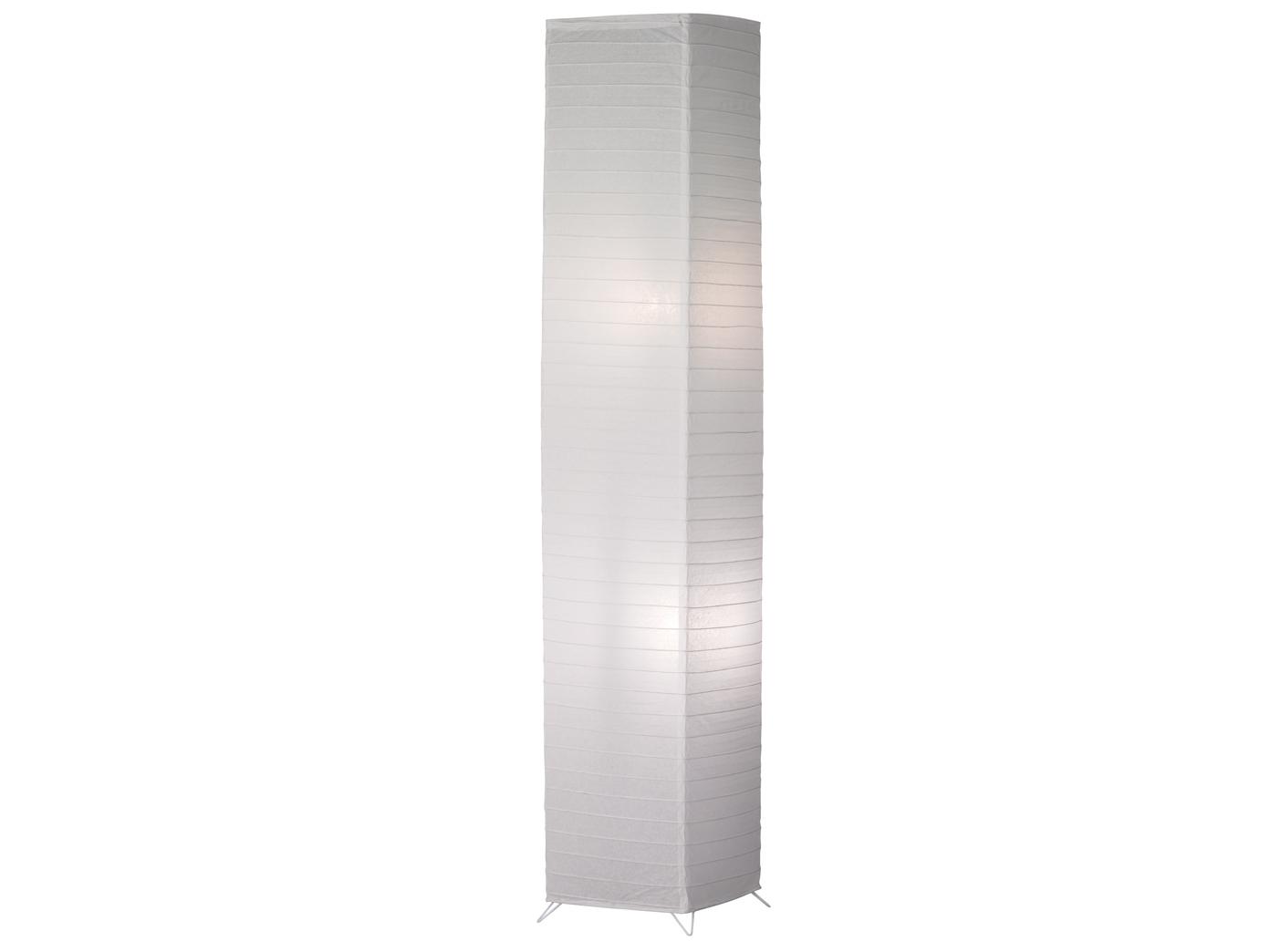 Details zu Kleine Zylinder Stehlampe mit Papierschirm stehende Lampe für  Wohnzimmer & Flur