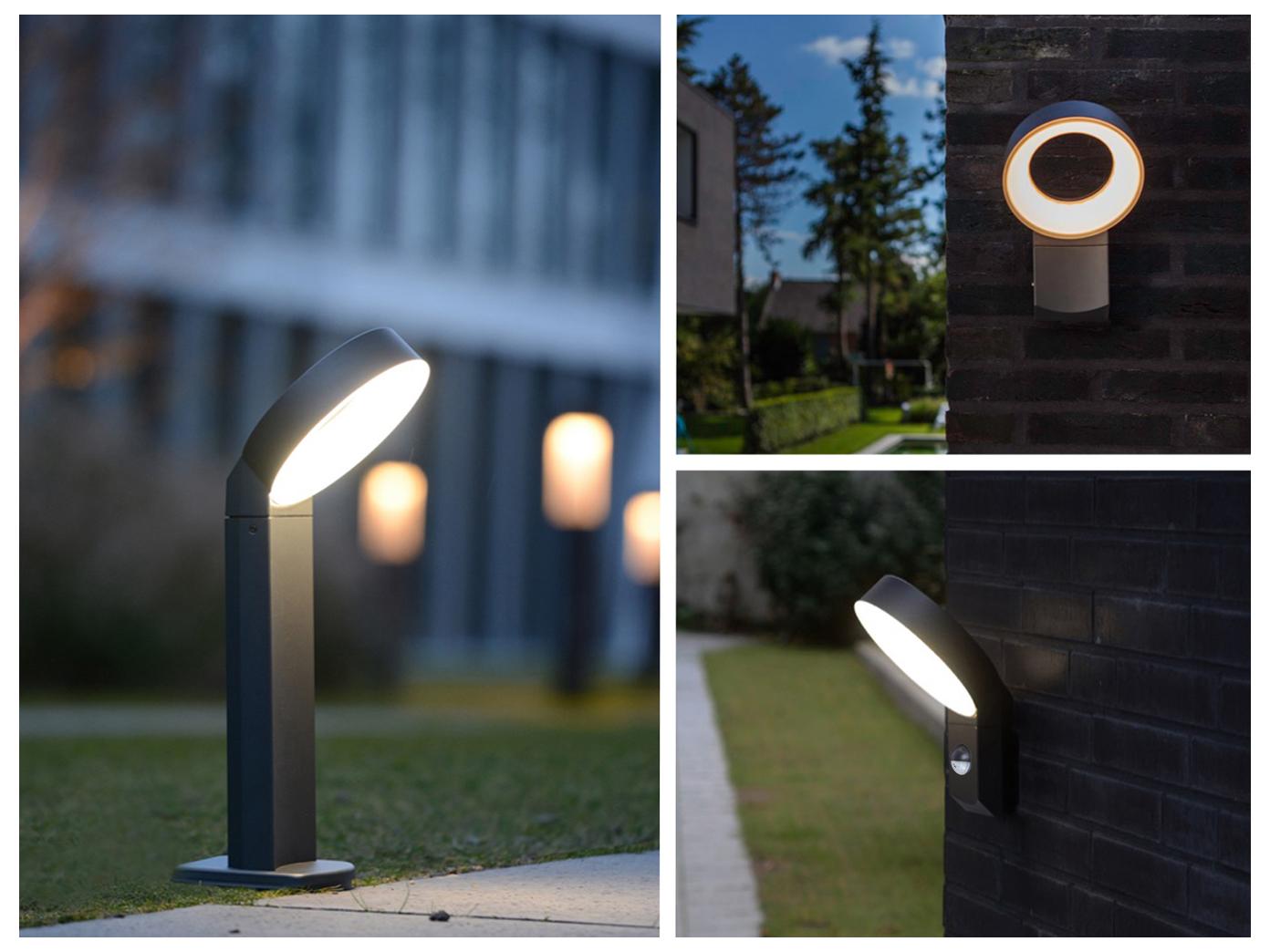 Alta calidad outdoor LED lámparas jardín aluminio parojo exterior Luces con detector de movimiento