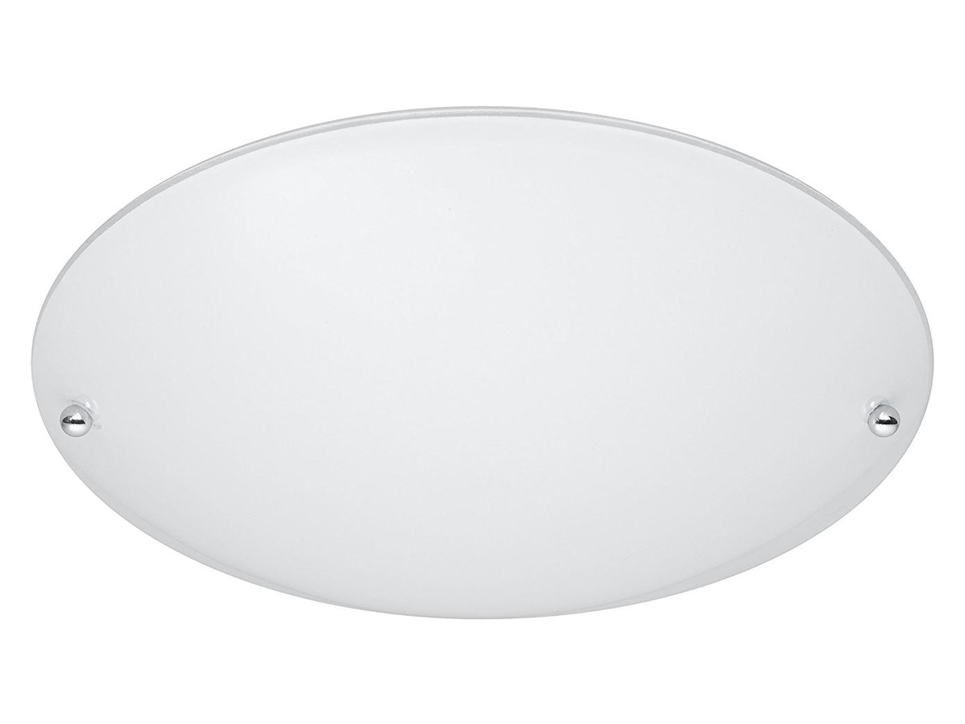 Deckenleuchte Deckenschale Ø 25cm Glas matt weiß, E27 Lampe Decke Wohnraum
