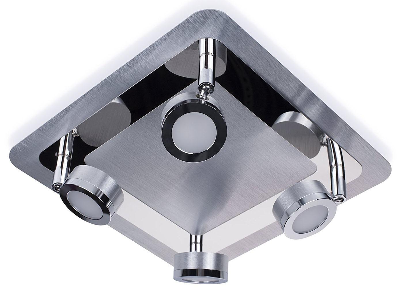 Moderne Badezimmer Deckenleuchte LED 4flammig, schwenkbare Badlampe ...