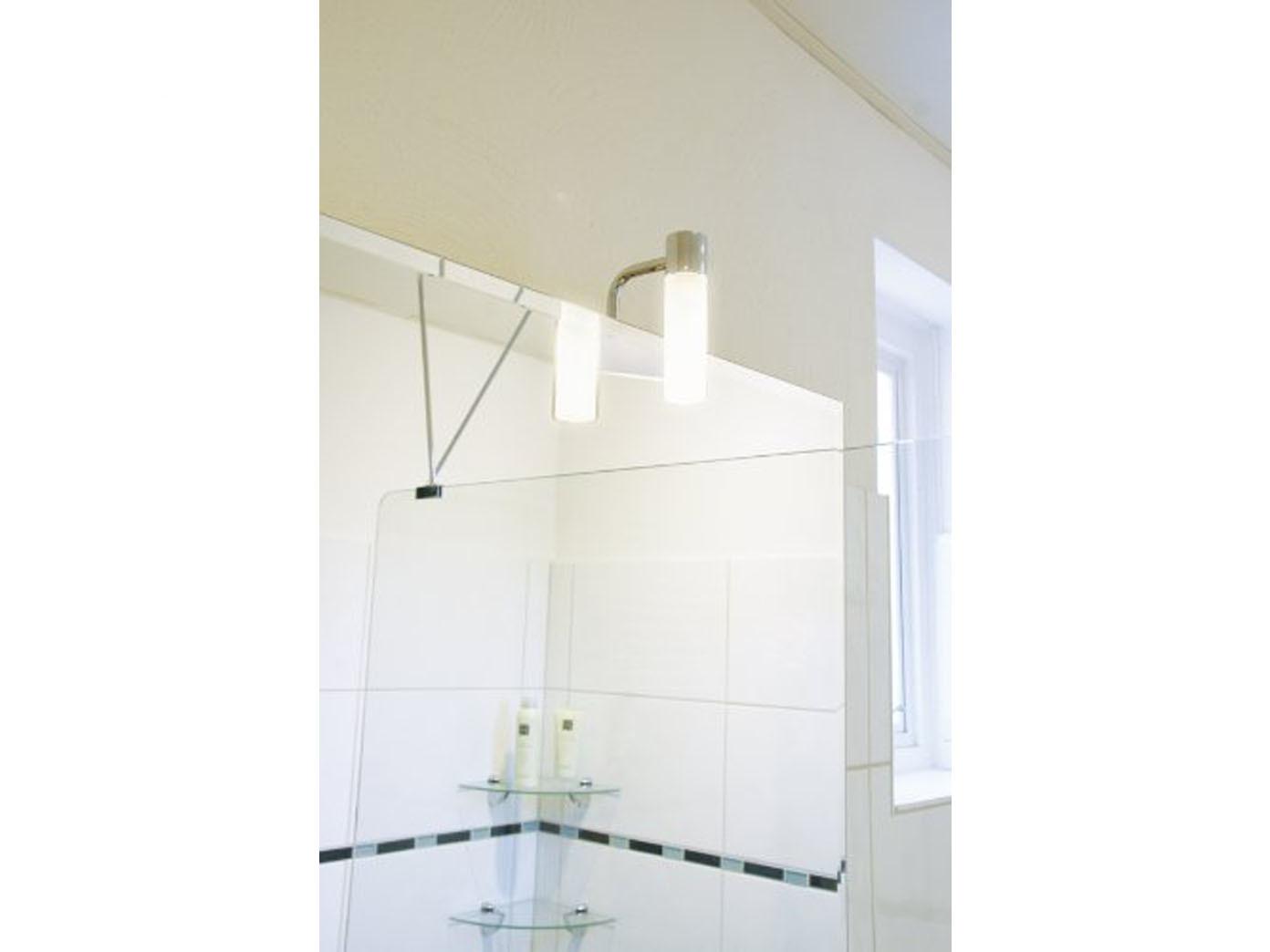 badezimmer spiegelleuchte mit led lampenschirm glas beleuchtung bad spiegel ebay. Black Bedroom Furniture Sets. Home Design Ideas