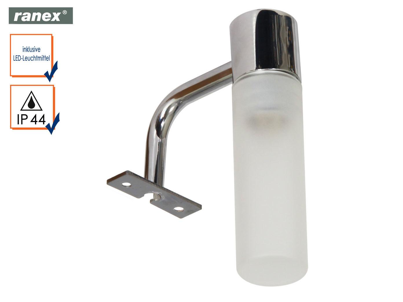 Badezimmer Spiegelleuchte mit LED, Lampenschirm Glas Beleuchtung Bad ...