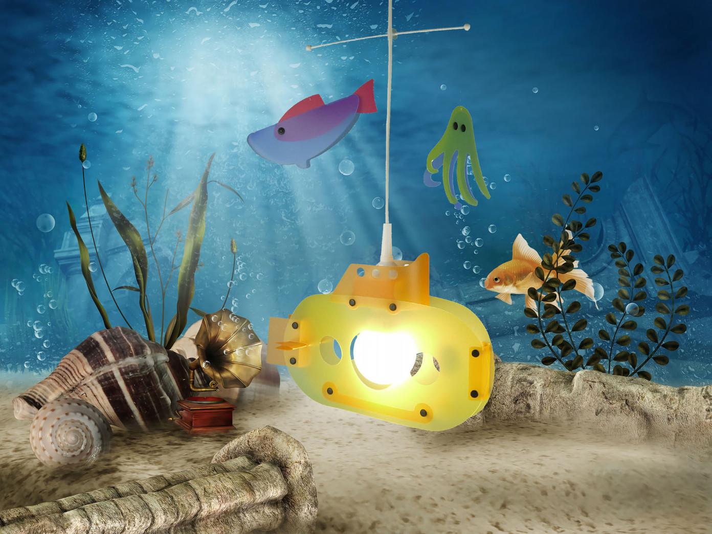Kinderdeckenlampe U -Boot Deckenleuchte für Kinderzimmer Pendel ...
