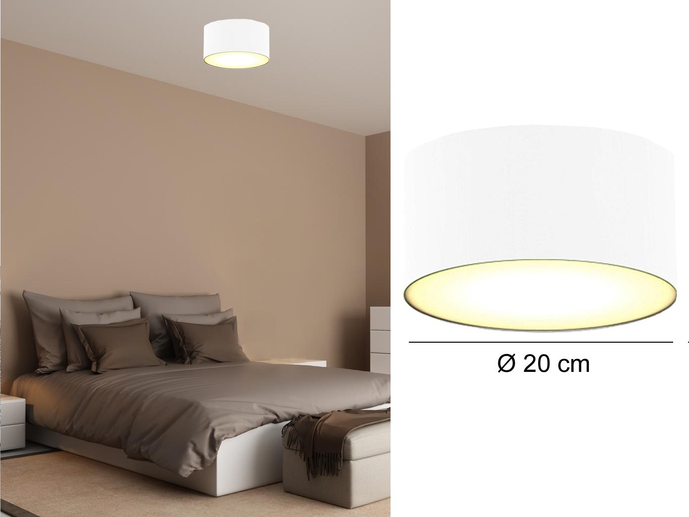deckenlampe rund stoffschirm satinierte abdeckung wohnzimmer deckenleuchten ebay. Black Bedroom Furniture Sets. Home Design Ideas