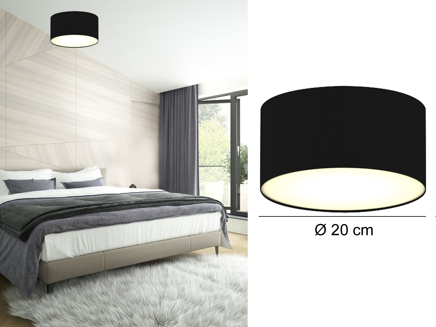 deckenlampe rund stoffschirm satinierte abdeckung wohnzimmer deckenleuchten ebay. Black Bedroom Furniture Sets. Home Design Ideas